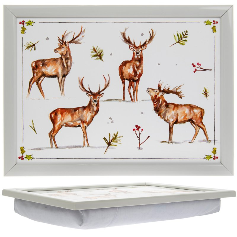 WINTER STAGS LAPTRAY