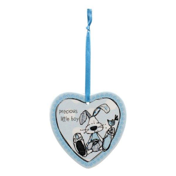 LITTLE MIRACLES BLUE HEART PLQ