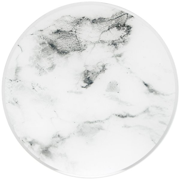 MIRROR MARBLE CANDLEPLATE 20CM