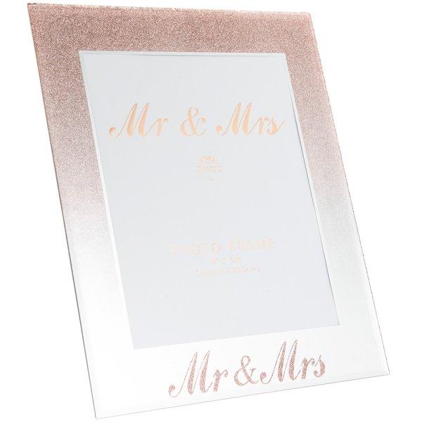 """MIRRORROSE GLD MR&MRS FRM8X10"""""""