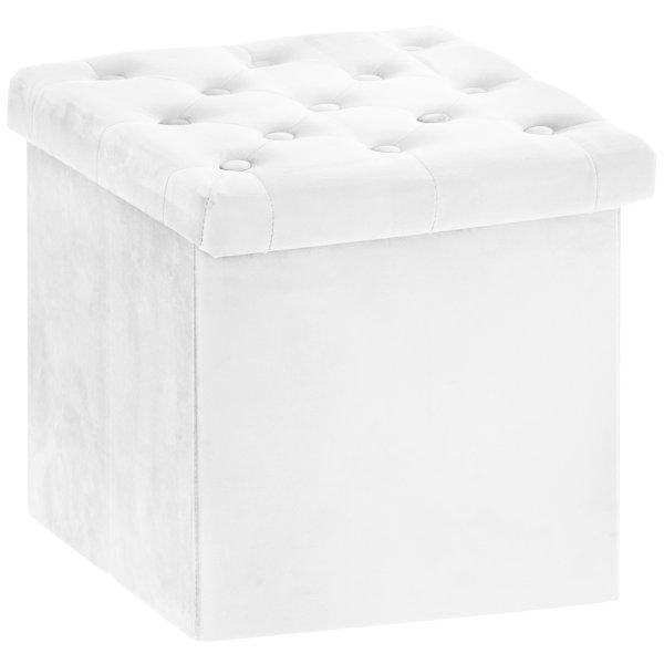 VELVET FOLDING BOX WHITE
