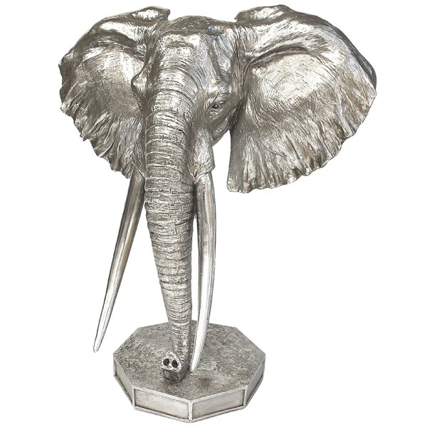 SILVER ART ELEPHANT BUST
