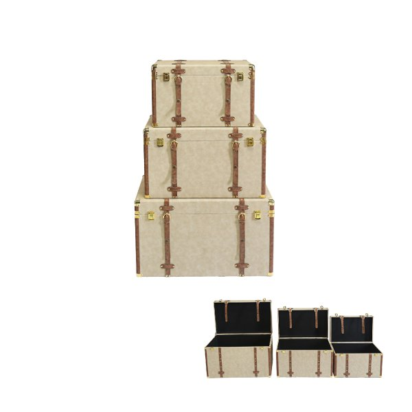 STORAGE TRUNKS SET OF 3