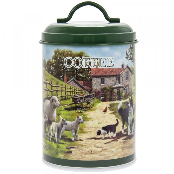 COLLIE & SHEEP COFFEE CANISTER