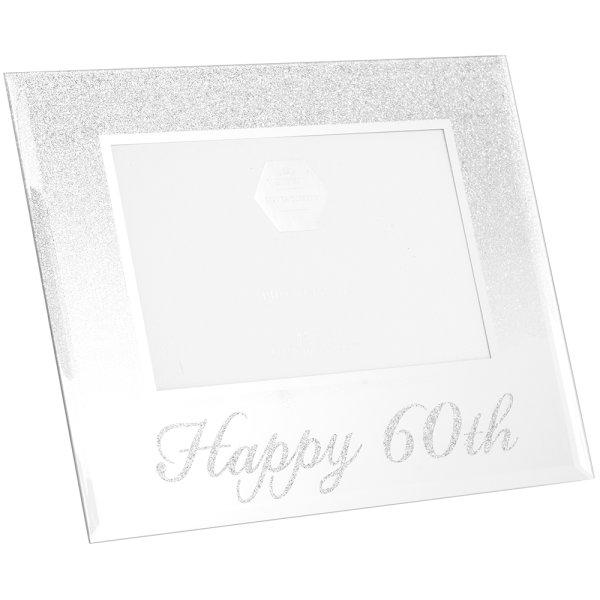 SIL GLITTER HAPPY60THFRAME 4X6