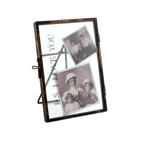METAL FRAME PS I LOVE YOU 4X6""