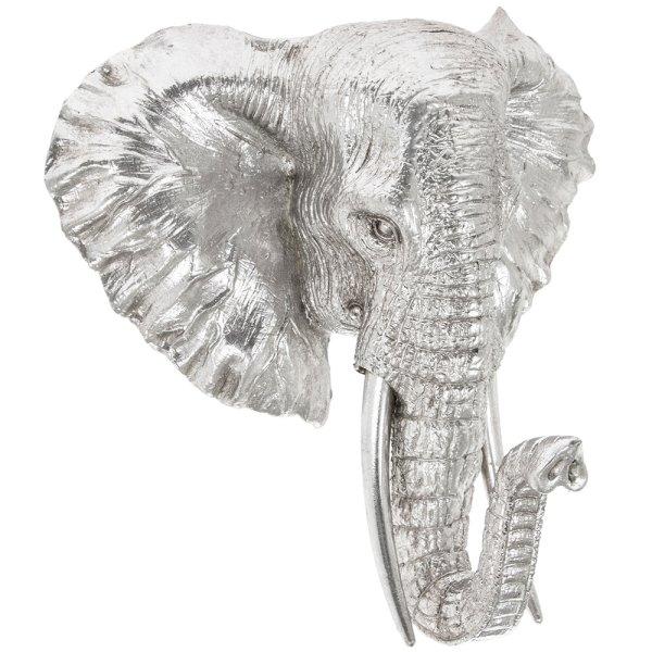SILVER ART ELEPHANT BUST MED