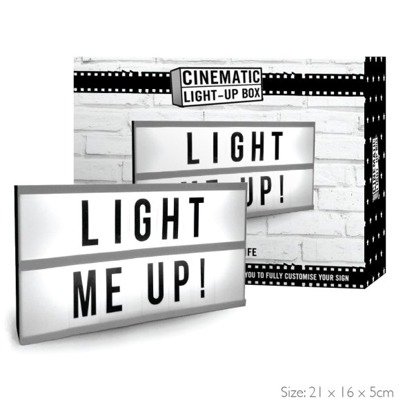 CINEMATIC LIGHT UP BOX A5
