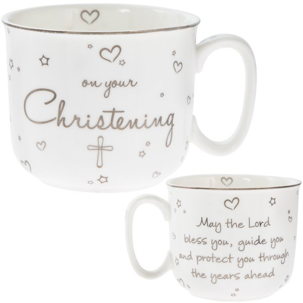 CHRISTENING HANDLED MUG