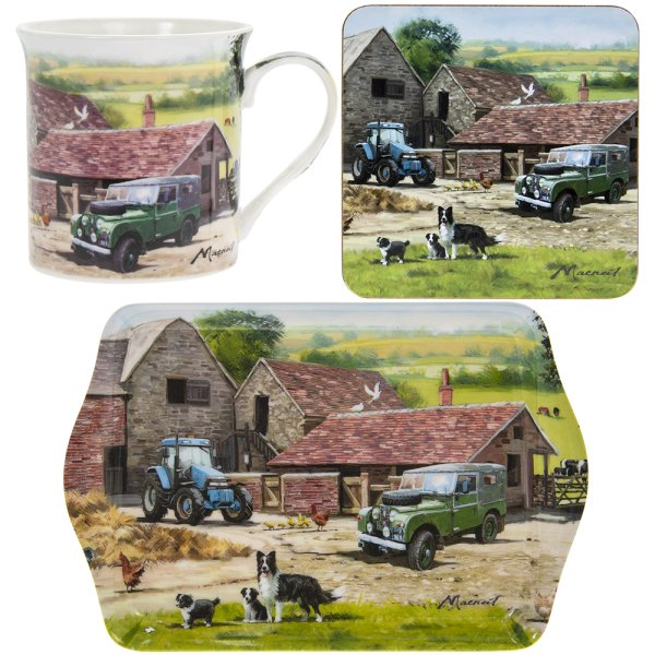 FARMYARD MUG COASTER & TRAY