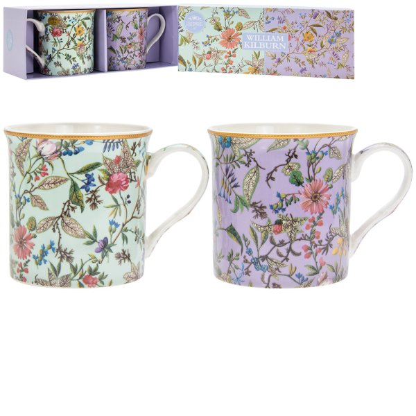 WILLIAM KILBURN MUGS SET OF 2