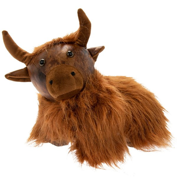 HIGHLAND COW DOORSTOP