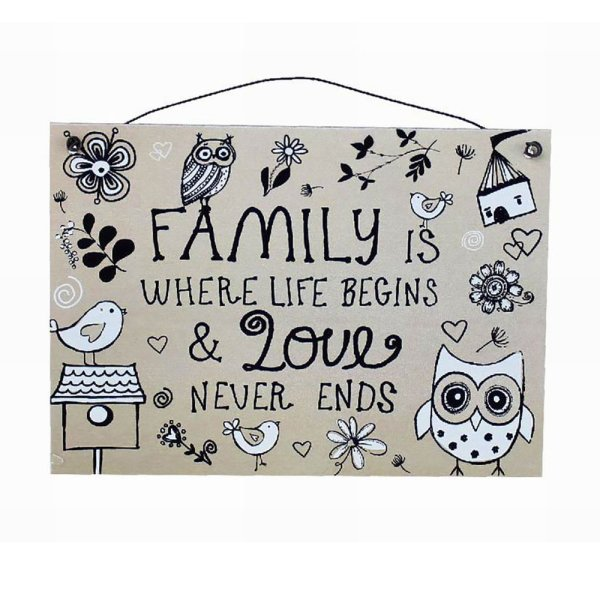 FAMILY LIFE & LOVE PLAQUE