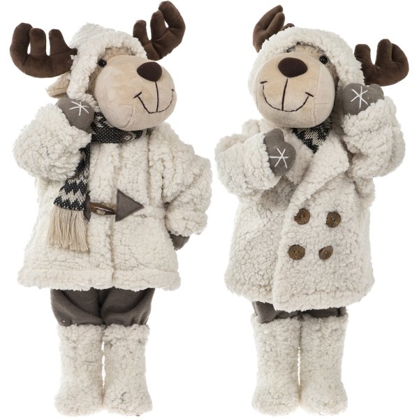 REINDEER WHT BOY & GIRL 22""