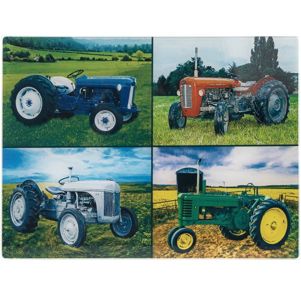 TRACTORS LGE GLS CUTTING BOARD