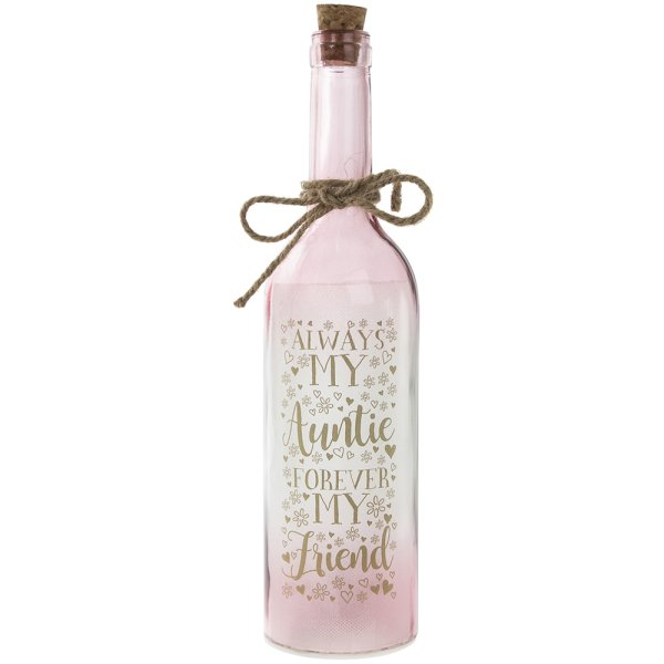 LED BOTTLE AUNTIE PINK