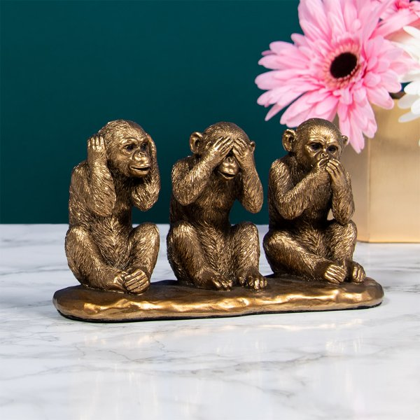 BRONZE WISE MONKEYS
