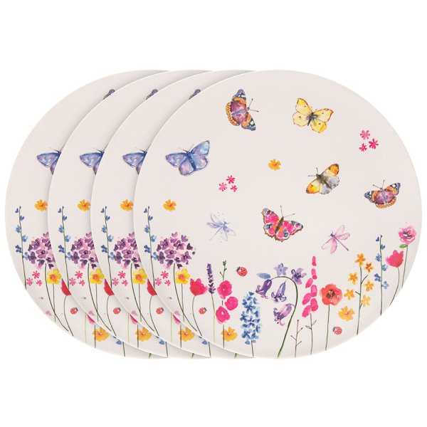 BUTTERFLY GRDN BAMBOO PLATE