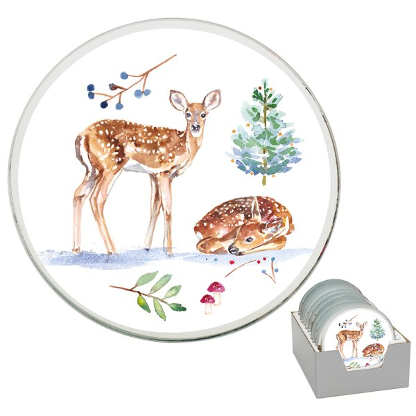 WINTER FOREST CANDLEPLT 10CM