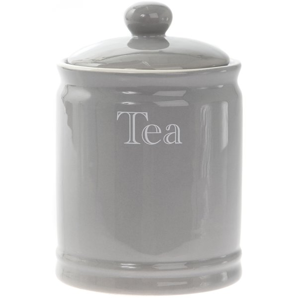 GREY CLASSIC TEA CANISTER