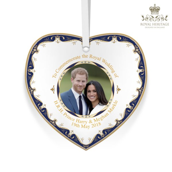 ROYAL WEDDING HEART PLAQUE