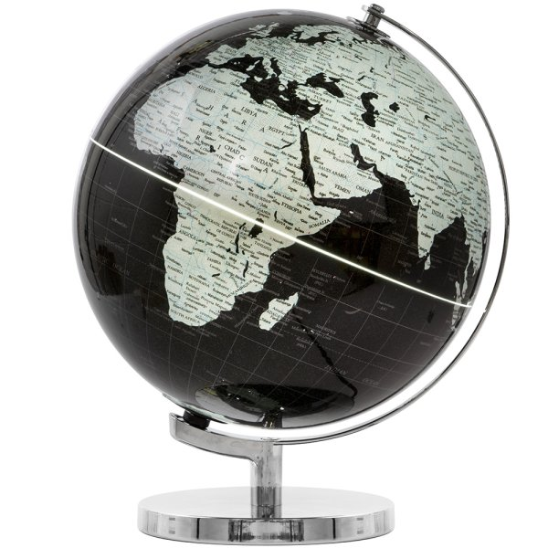 GLOBE SIL/BLK LIGHT UP ON BASE