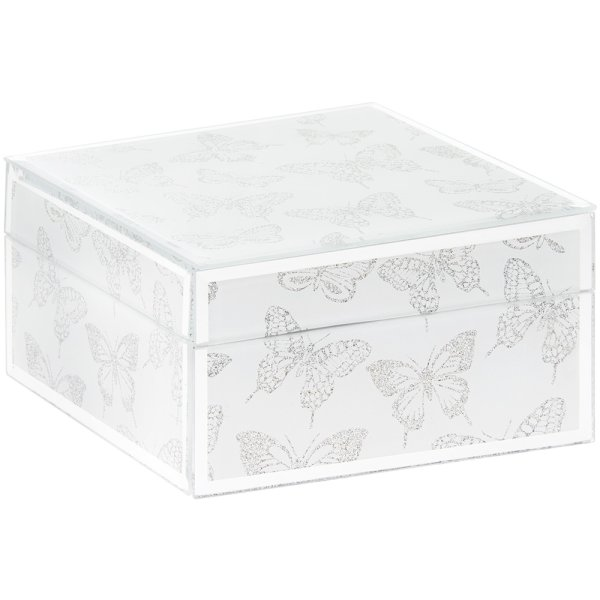 B'FLY SILVER GLITTER JEWEL BOX