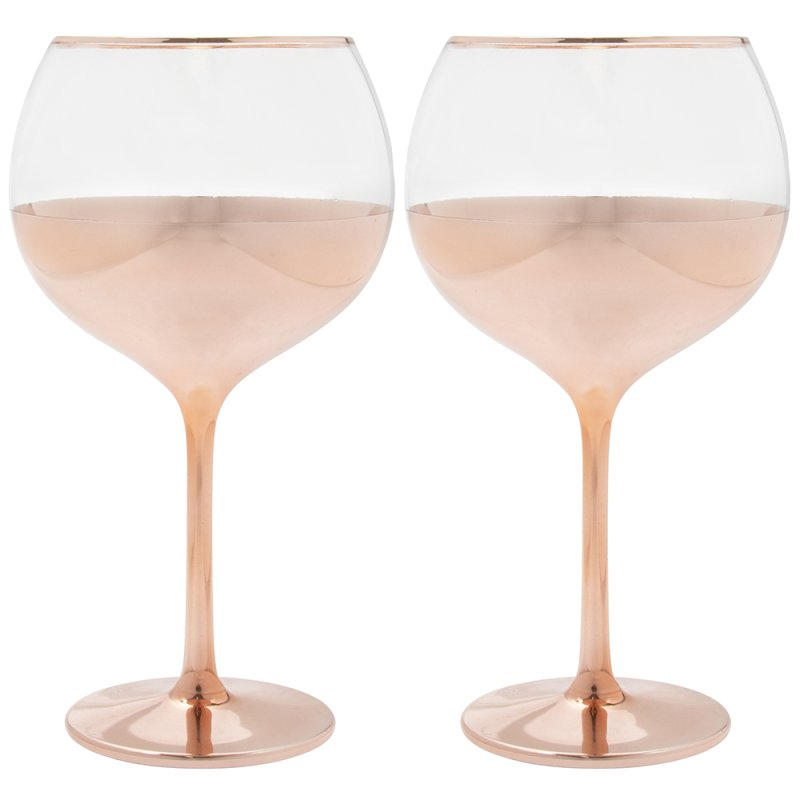 ROSE GOLD GIN GLASSES S2
