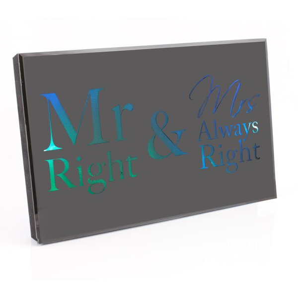 MR&MRS RGHT LED DISPLAY BLACK