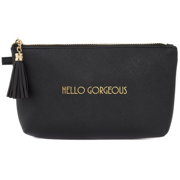 SHINE BRIGHT COSMETIC BAG BLK