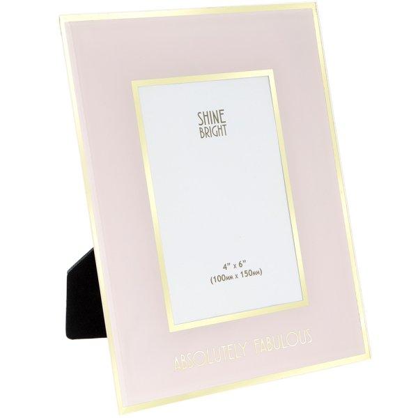SHINE BRIGHT FRAME PINK 4X6