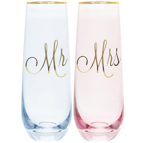 MR & MRS STEMLESS FLUTES