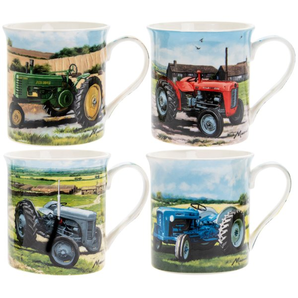 TRACTORS MUGS SET OF 4