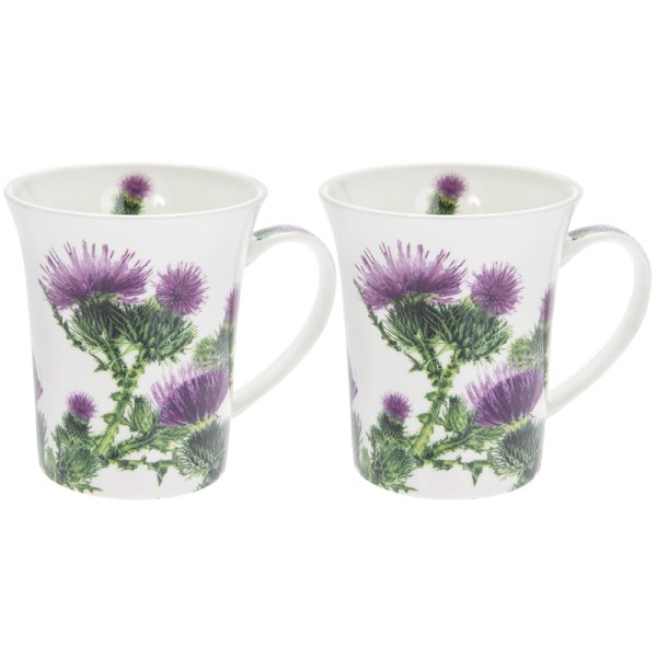 THISTLE MUGS SET OF 2