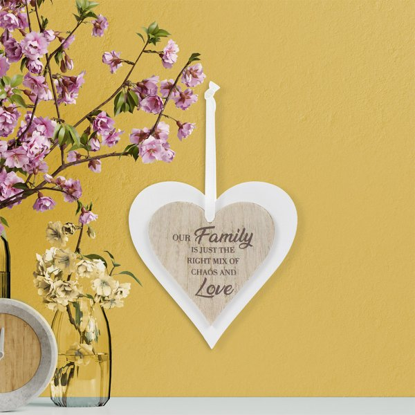DOUBLE HEART PLAQUE FAMILY