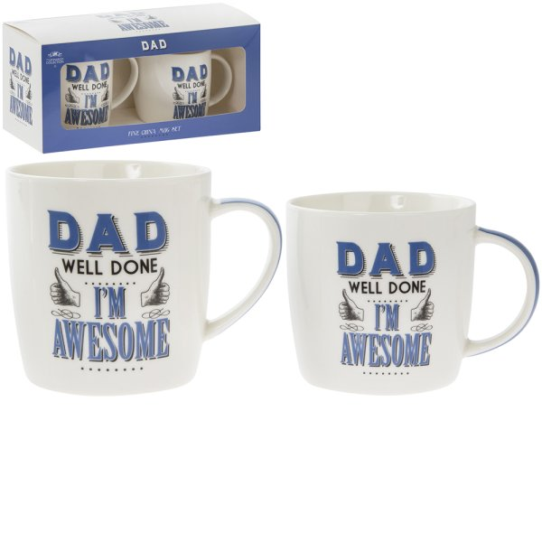 DAD I'M AWESOME MUGS 2 SET