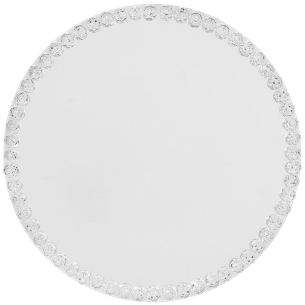 DIAMANTE MIRROR CANDLE PLT20CM