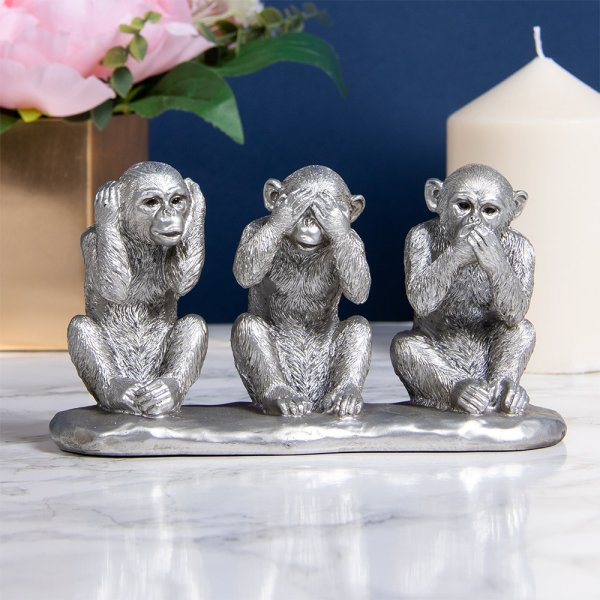 SILVER WISE MONKEYS
