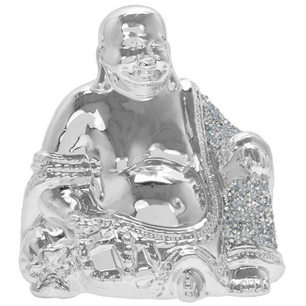 SILVER SPARKLE BUDDHA S