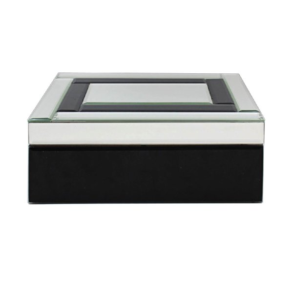 MIRROR BLACK JEWELLRY BOX