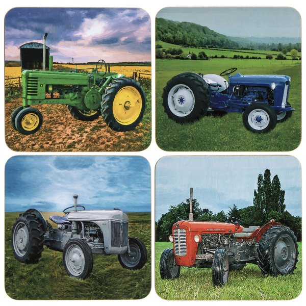 TRACTORS COASTERS SET OF 4
