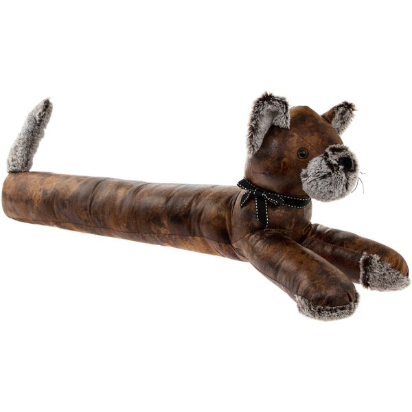CAT DRAUGHT EXCLUDER LEATHER