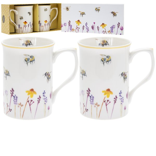 BUSY BEES MUGS SET OF 2