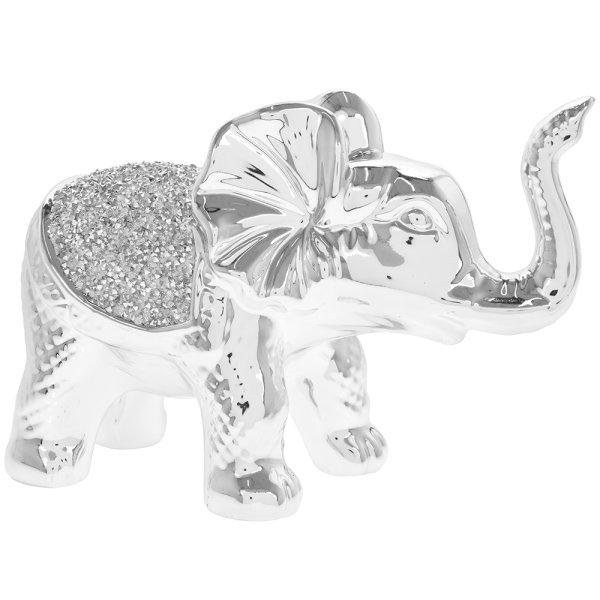 SILVER SPARKLE SILVER ELEPHANT