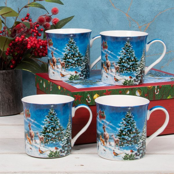 MAGIC OF XMAS MUGS SET 4