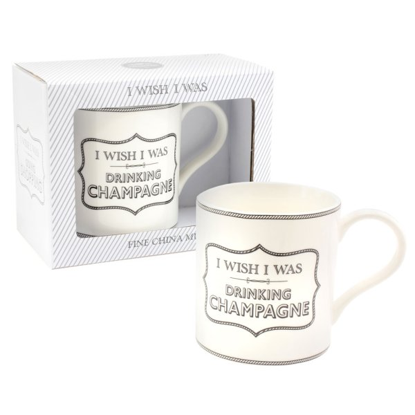 WISH I WAS DRINKING CHAMP MUG
