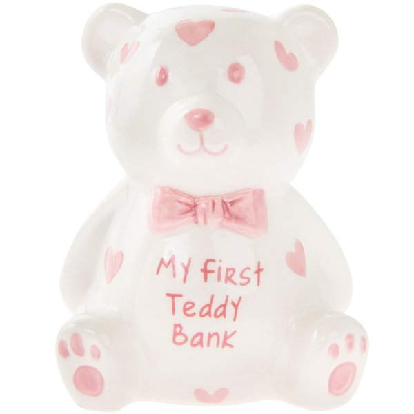 MY FIRST TEDDY BANK PINK SMALL