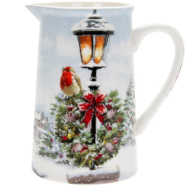 CHRISTMAS ROBINS JUG MEDIUM