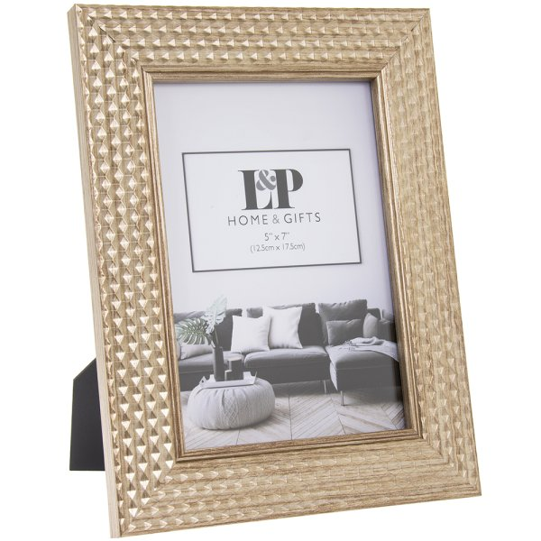 GOLD HEXAGON PHOTO FRAME 5X7