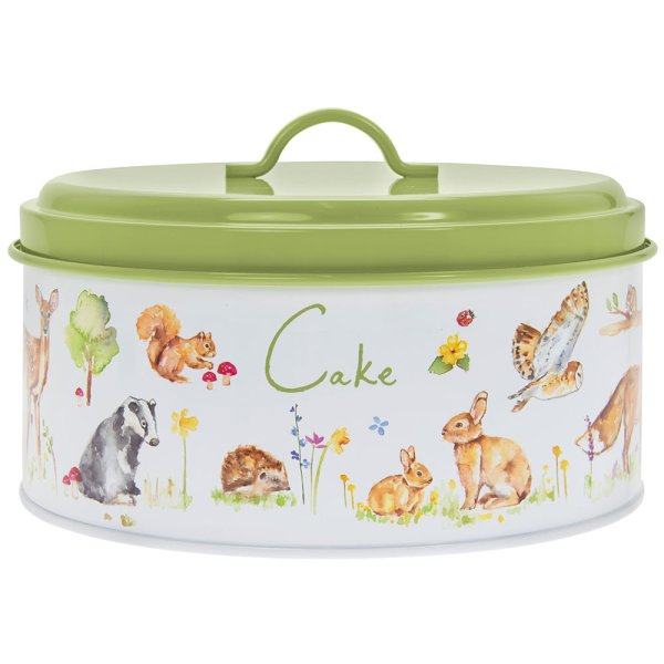 WOODLAND WILDLIFE CAKE TIN